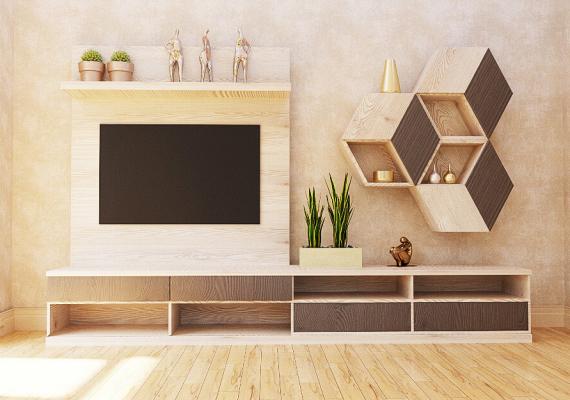 custom-furniture-wood effect-tv-unit